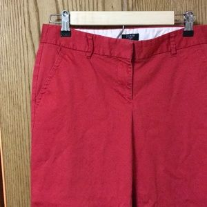Cherry Red Cropped Pants
